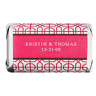 Personalized HERSHEY'S MINIATURES® Chocolates  - Modern (Pink)