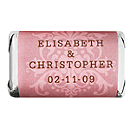 Personalized HERSHEY'S MINIATURES® Chocolates - Regal (Pink)
