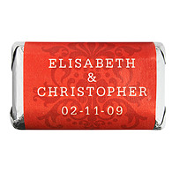 Personalized HERSHEY'S MINIATURES® Chocolates - Regal (Red)