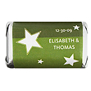 Personalized HERSHEY'S MINIATURES® Chocolates - Stars (Green)