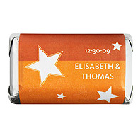 Personalized HERSHEY'S MINIATURES® Chocolates - Stars (Orange)