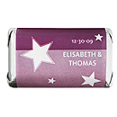 Personalized HERSHEY'S MINIATURES® Chocolates - Stars (Purple)