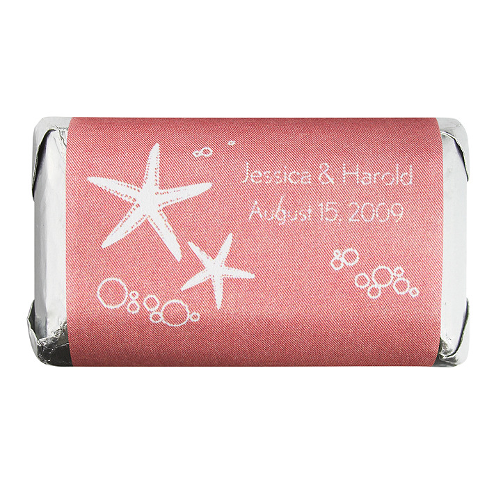 Personalized HERSHEY'S MINIATURES® Chocolates - Starfish (Pink)