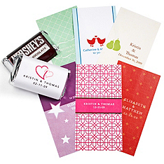 Personalized Mini Chocolate Labels - NEW DESIGNS!
