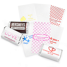 Personalized Metallic Mini Chocolate Labels