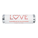Personalized Metallic Lovesavers - LOVE