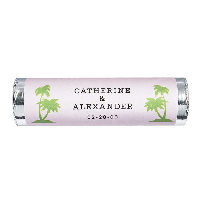 Personalized Lovesavers - Palm Trees (Pink)