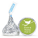 Personalized HERSHEY'S® Kisses - Bird (Green)