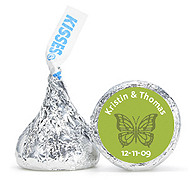 Personalized HERSHEY'S® Kisses - Butterfly (Green)