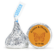 Personalized HERSHEY'S® Kisses - Butterfly (Orange)