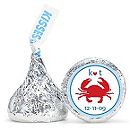 Personalized HERSHEY'S® Kisses - Crab (Blue)