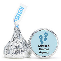 Personalized HERSHEY'S® Kisses - Flop Flops (Blue)