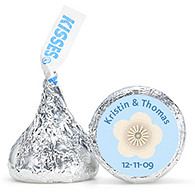 Personalized HERSHEY'S® Kisses - Flower (Blue)