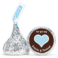 Personalized HERSHEY'S® Kisses - Heart (Blue)