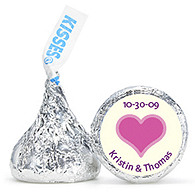 Personalized HERSHEY'S® Kisses - Heart (Pink)