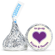 Personalized HERSHEY'S® Kisses - Heart (Purple)