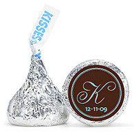 Personalized HERSHEY'S® Kisses - Initial (Blue/Brown)