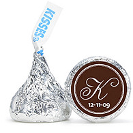 Personalized HERSHEY'S® Kisses - Intiial (White/Brown)