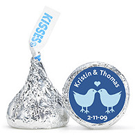 Personalized HERSHEY'S® Kisses - Lovebirds (Blue)