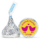 Personalized HERSHEY'S® Kisses - Lovebirds (Yellow)
