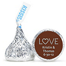 Personalized HERSHEY'S® Kisses - Love (Blue)
