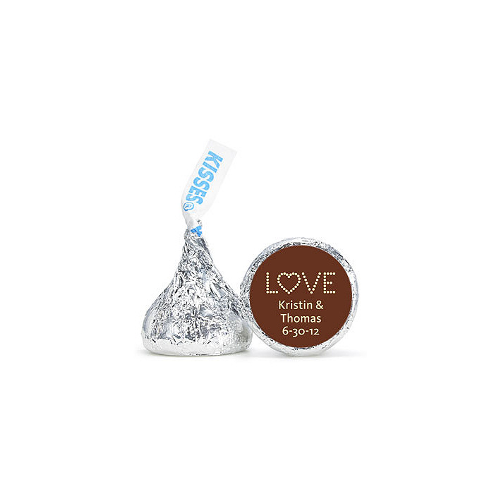 Personalized HERSHEY'S® Kisses - Love (Yellow)