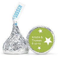 Personalized HERSHEY'S® Kisses - Stars (Green)
