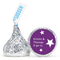 Personalized HERSHEY'S® Kisses - Stars (Purple)