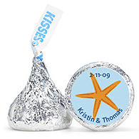 Personalized HERSHEY'S® Kisses - Starfish (Blue)