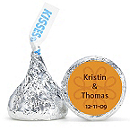 Personalized HERSHEY'S® Kisses - Twirl (Orange)