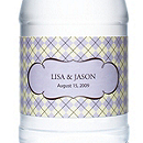 Personalized Water Bottles - Argyle (Lavender)