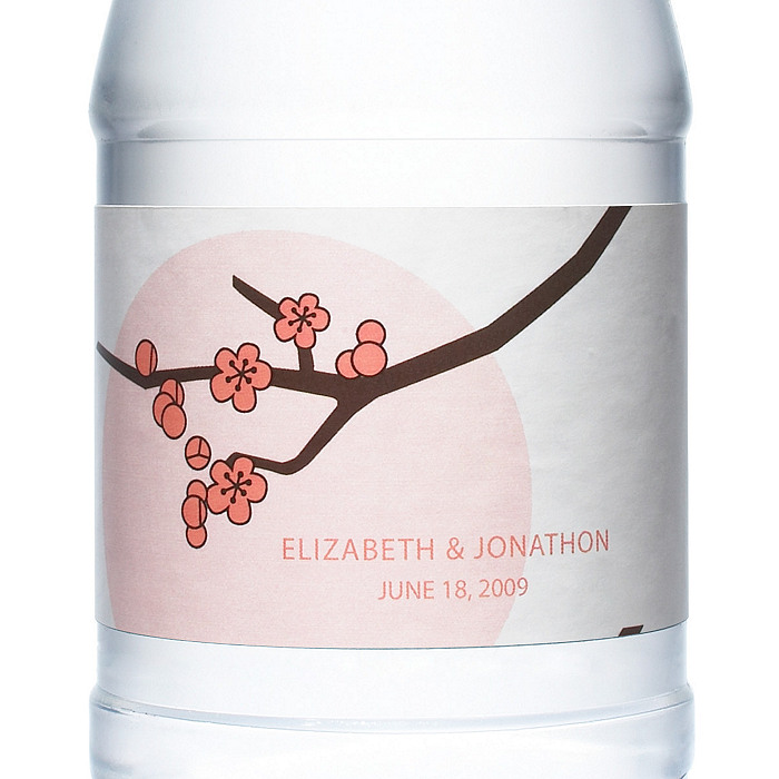 Personalized Water Bottles - Cherry Blossom