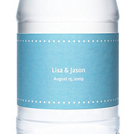 Personalized Water Bottles - Pin Dot (Blue)