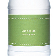 Personalized Water Bottles - Pin Dot (Grass)