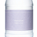 Personalized Water Bottles - Pin Dot (Lavender)