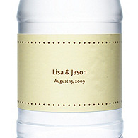 Personalized Water Bottles - Pin Dot (Yellow)