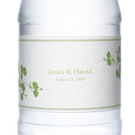 Personalized Water Bottles - Foliage (Grass Green)