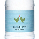 Personalized Water Bottles - Lovebirds (Green)