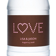 Personalized Water Bottles - LOVE (Pink/Brown)