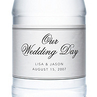 Personalized Water Bottles - Our Wedding Day (Black)