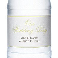 Personalized Water Bottles - Our Wedding Day (Gold)