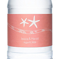 Personalized Water Bottles - Starfish (Pink)