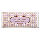 Personalized Large HERSHEY'S® Chocolate Bars - Argyle (Lavender)