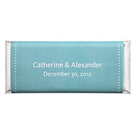 Personalized Large HERSHEY'S® Chocolate Bars - Pin Dot (Blue)