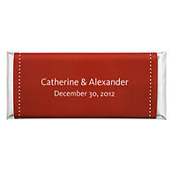 Personalized Large HERSHEY'S® Chocolate Bars - Pin Dot (Red)