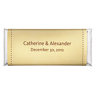 Personalized Large HERSHEY'S® Chocolate Bars - Pin Dot (Yellow)