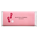 Personalized Large HERSHEY'S® Chocolate Bars - Flip Flops (Pink)