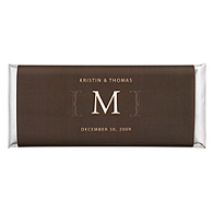 Personalized Large HERSHEY'S® Chocolate Bars - Initial (Cocoa)