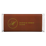 Personalized Large HERSHEY'S® Chocolate Bars - Initial (Green/Brown)