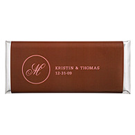 Personalized Large HERSHEY'S® Chocolate Bars - Initial (Pink/Brown)